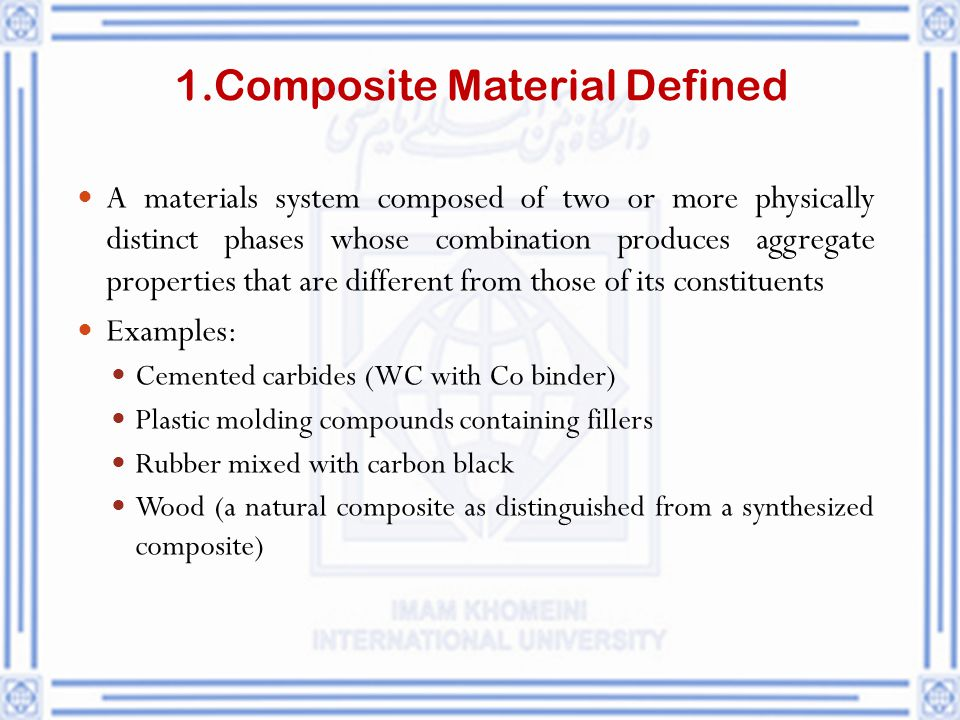 1.Composite Material Defined