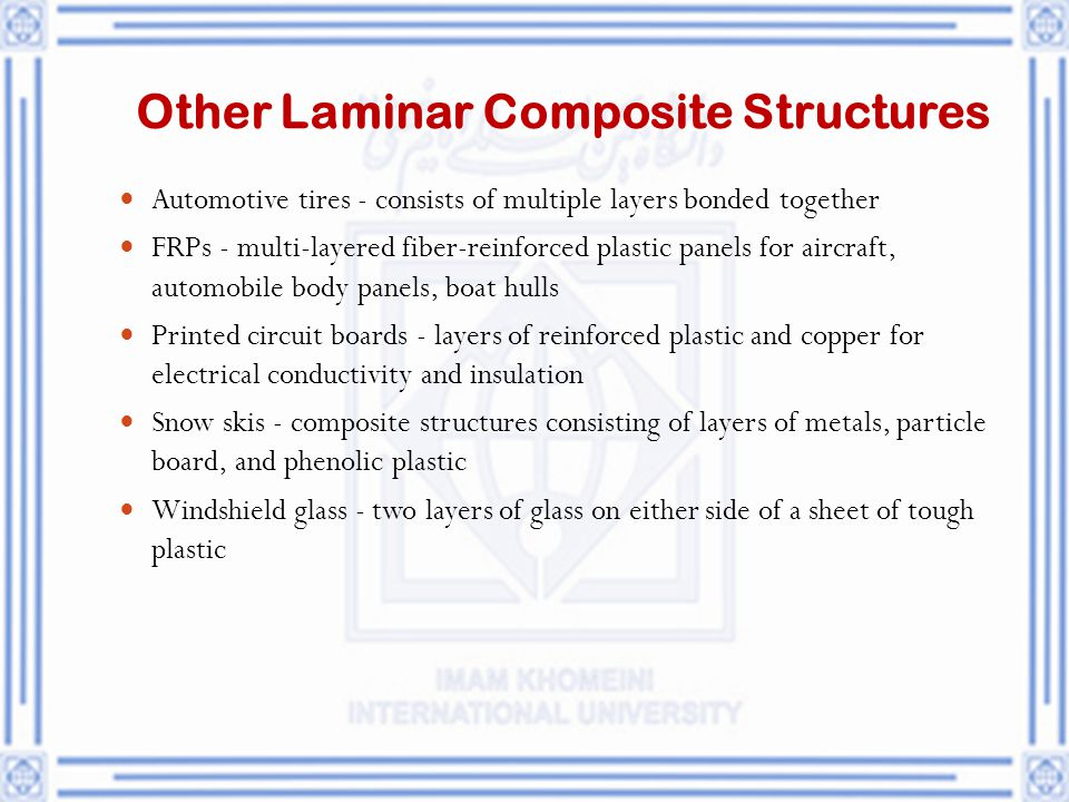 Other Laminar Composite Structures