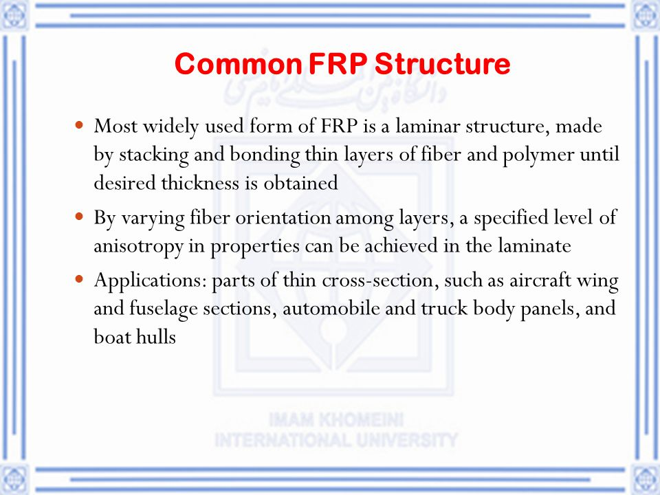 Common FRP Structure