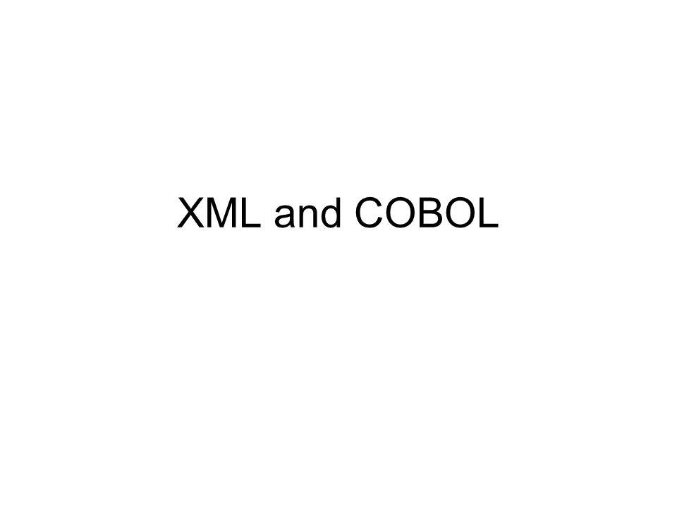 XML and COBOL