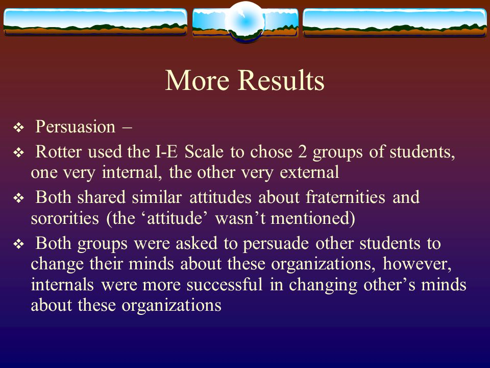 More Results Persuasion –