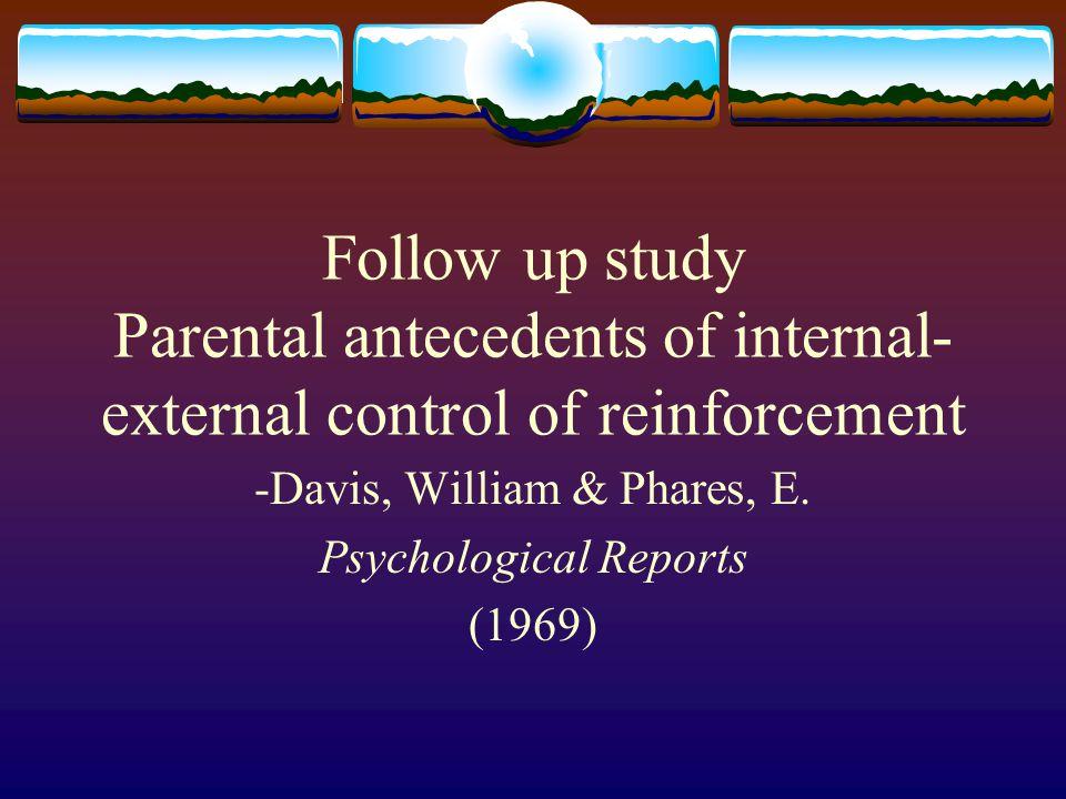-Davis, William & Phares, E. Psychological Reports (1969)
