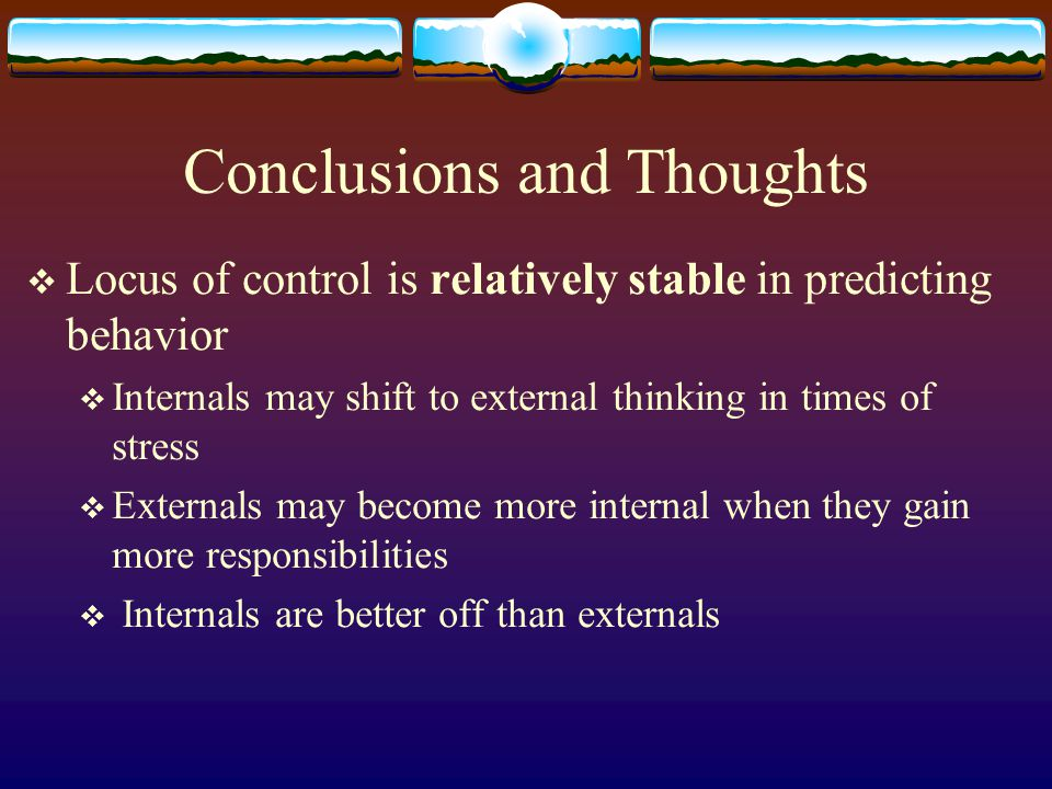 Conclusions and Thoughts