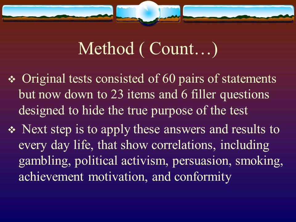 Method ( Count…)