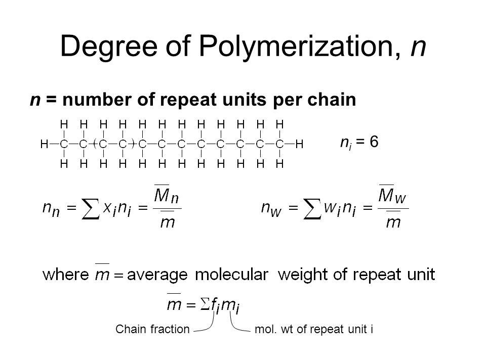 Degree of Polymerization, n