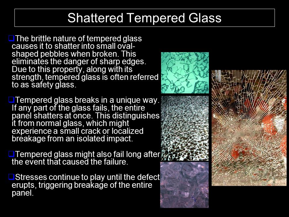 Shattered Tempered Glass