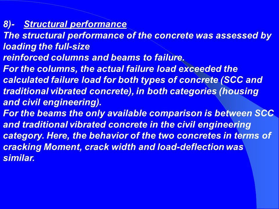 8)- Structural performance
