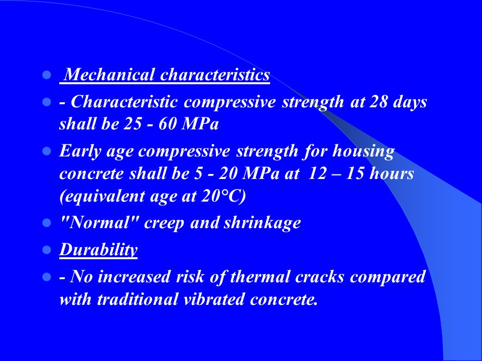 Mechanical characteristics