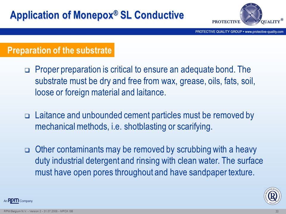 Application of Monepox® SL Conductive