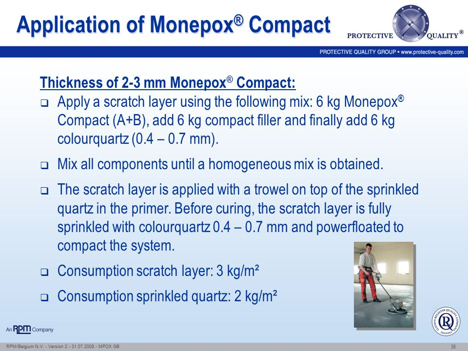 Application of Monepox® Compact