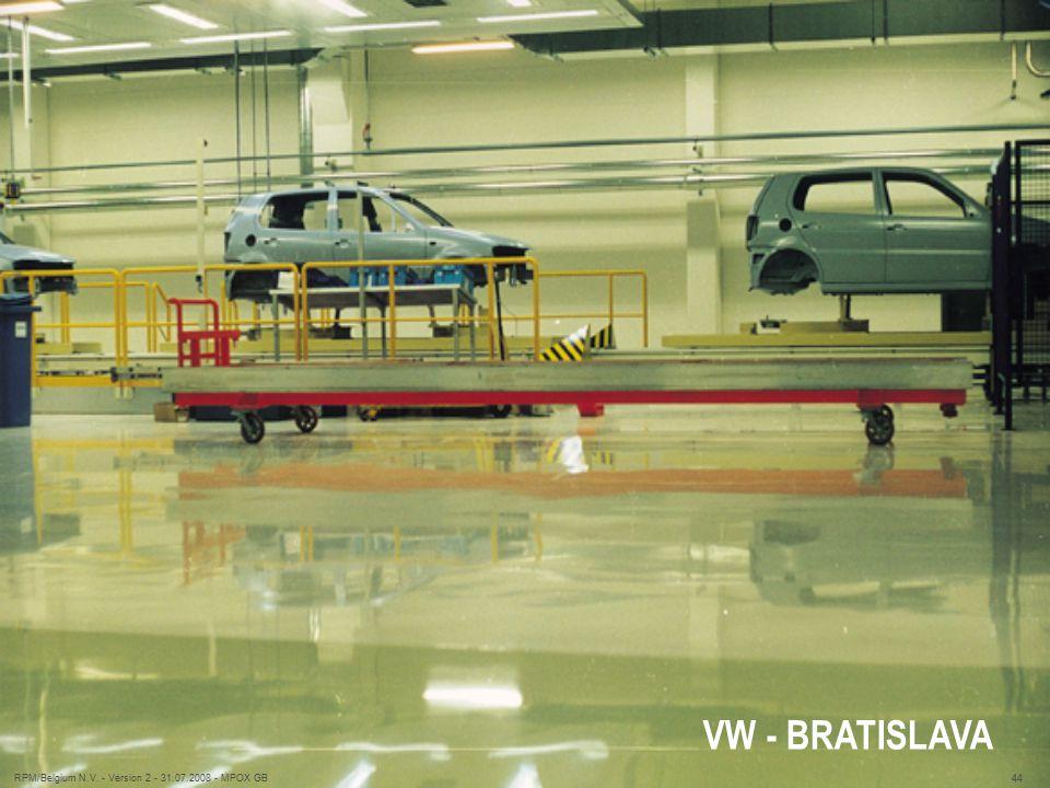 VW - BRATISLAVA RPM/Belgium N.V. - Version 2 - 31.07.2008 - MPOX GB