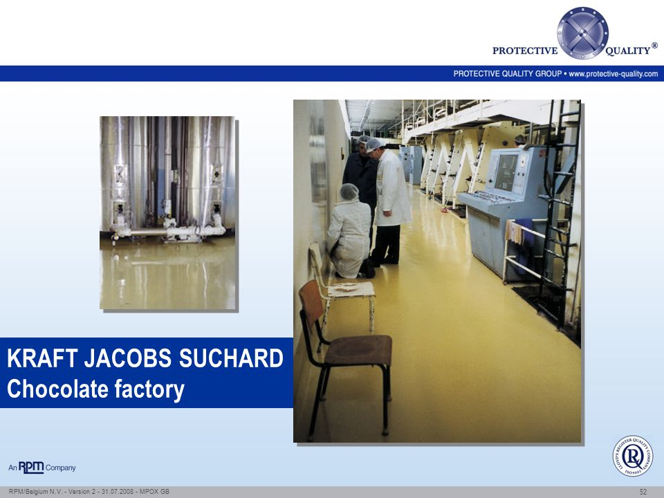 KRAFT JACOBS SUCHARD Chocolate factory