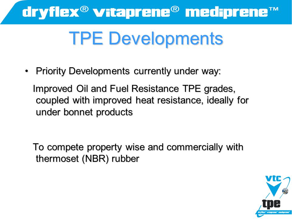 TPE Developments Priority Developments currently under way:
