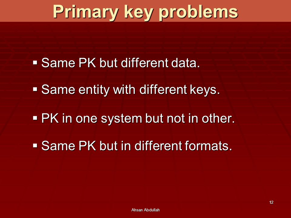 Primary key problems Same PK but different data.