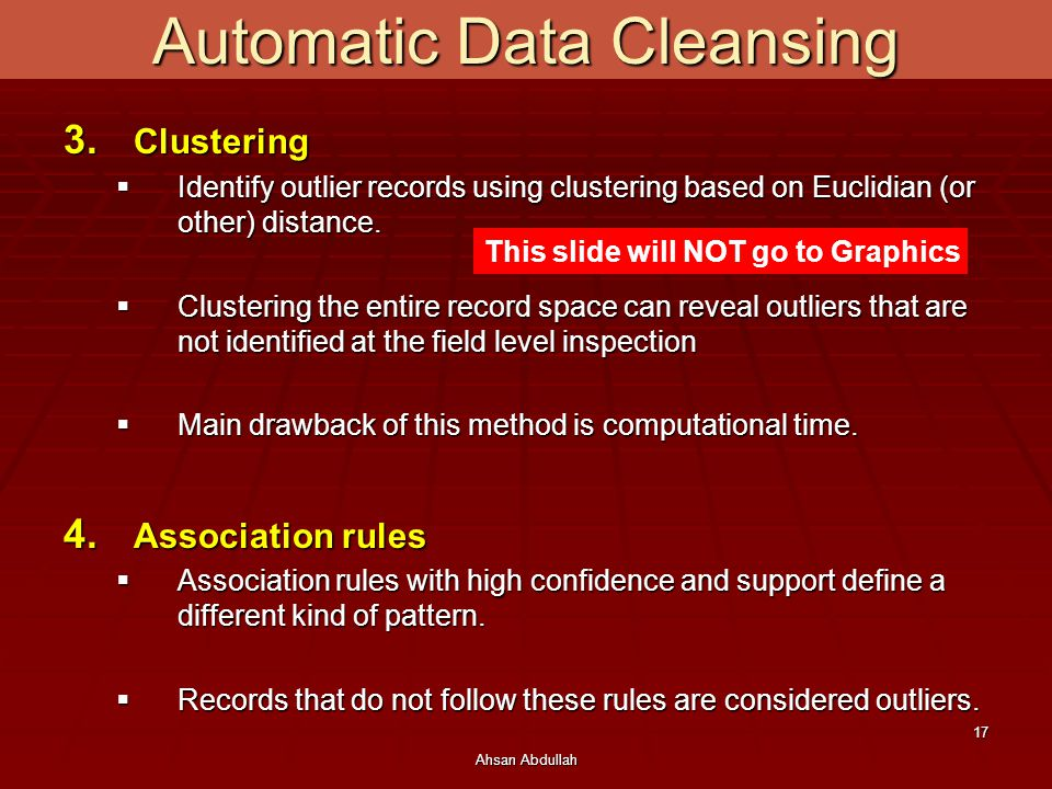 Automatic Data Cleansing