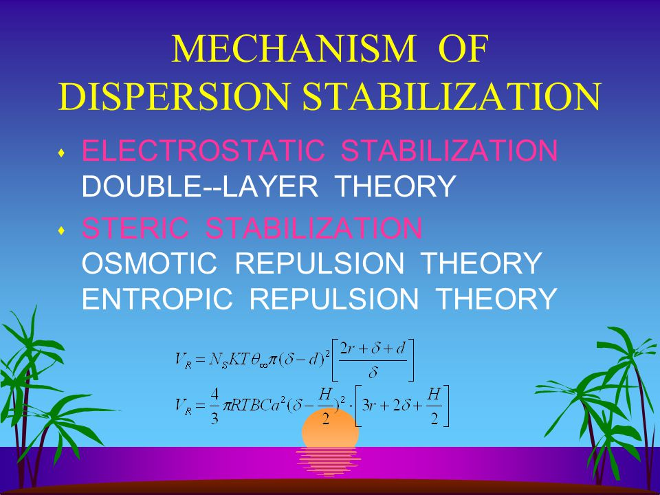 MECHANISM OF DISPERSION STABILIZATION