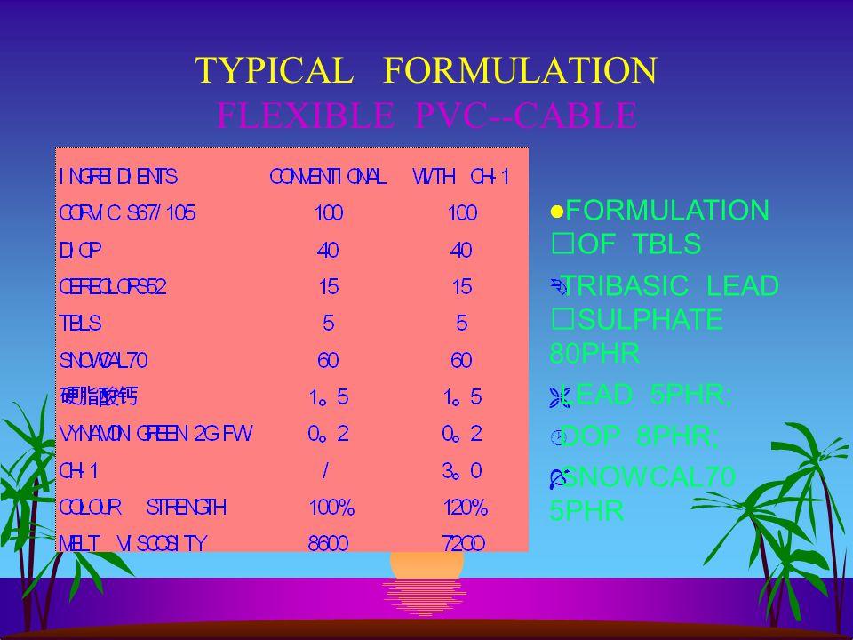 TYPICAL FORMULATION FLEXIBLE PVC--CABLE