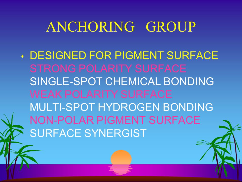 ANCHORING GROUP