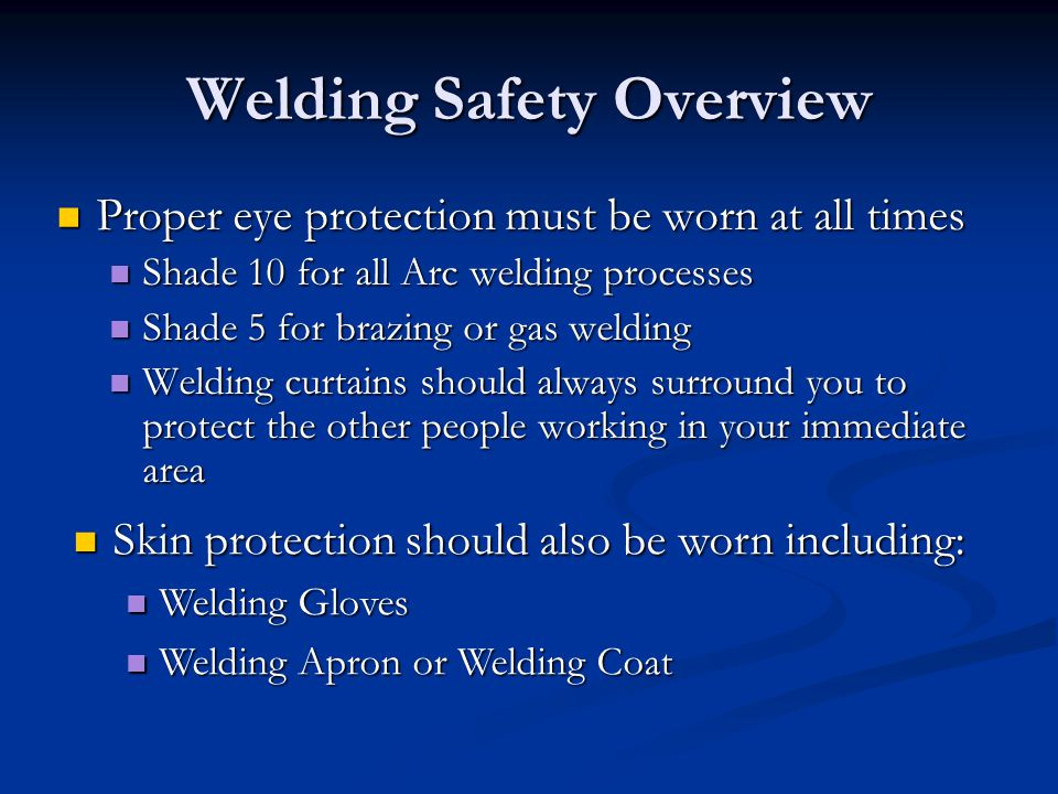 Welding Safety Overview