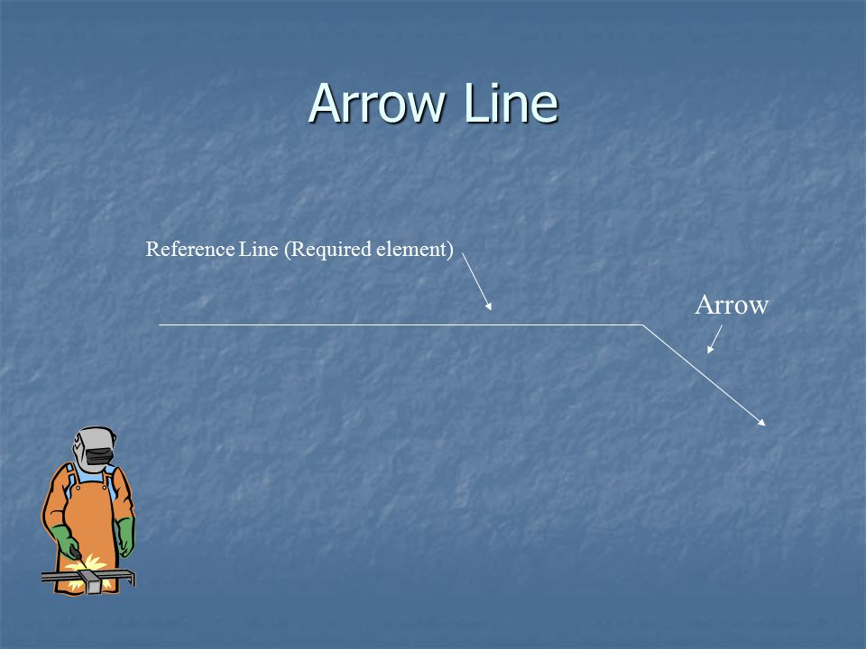 Arrow Line Reference Line (Required element) Arrow