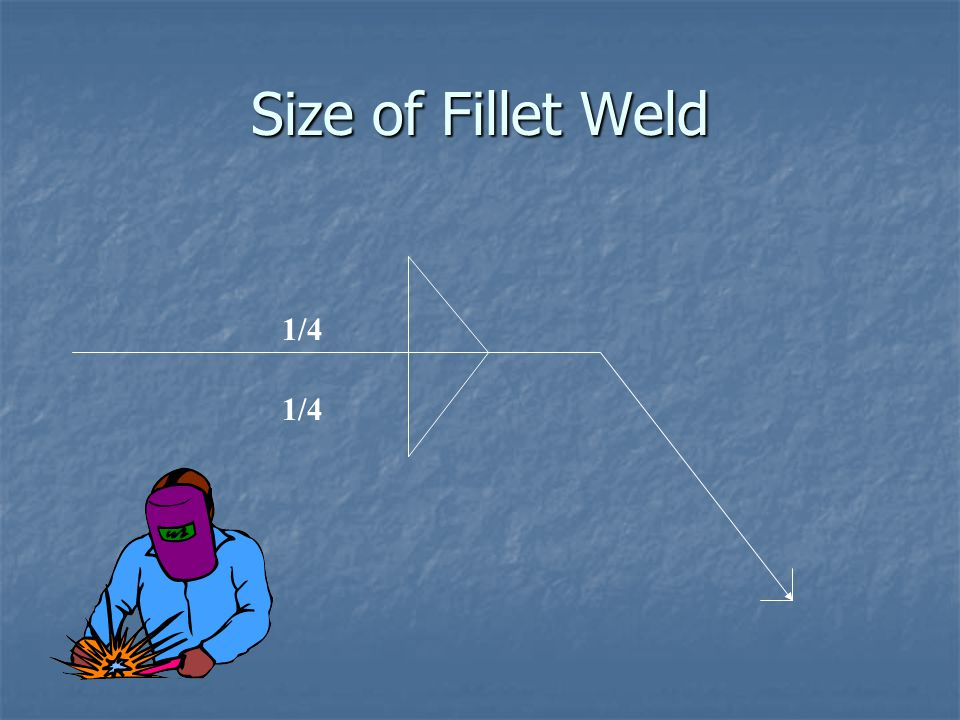 Size of Fillet Weld 1/4 1/4