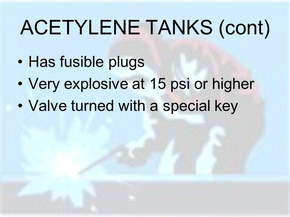 ACETYLENE TANKS (cont)
