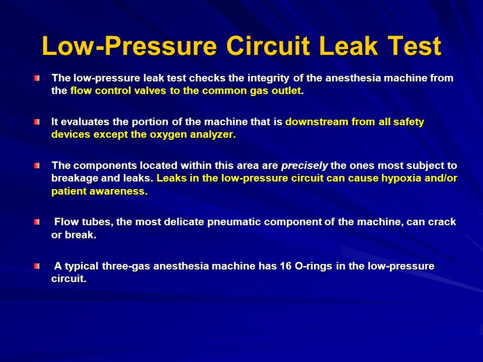 Low-Pressure Circuit Leak Test