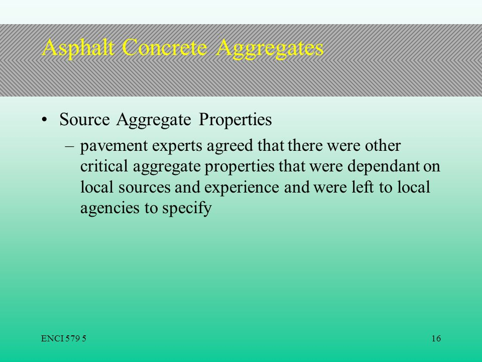 Asphalt Concrete Aggregates