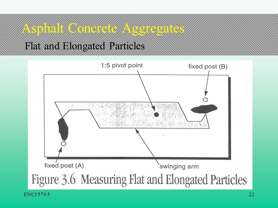 Asphalt Concrete Aggregates Flat and Elongated Particles