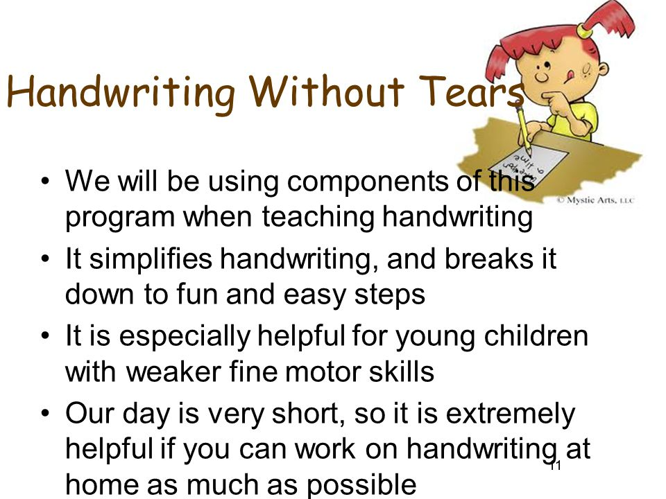 Handwriting Without Tears