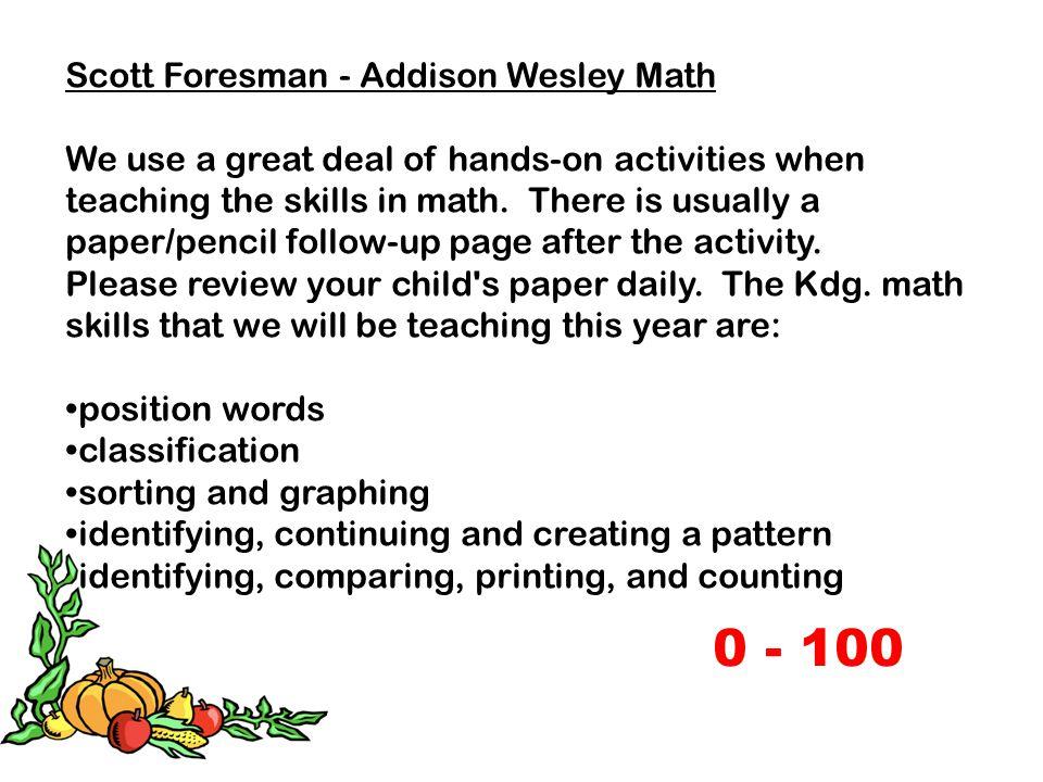 0 - 100 Scott Foresman - Addison Wesley Math