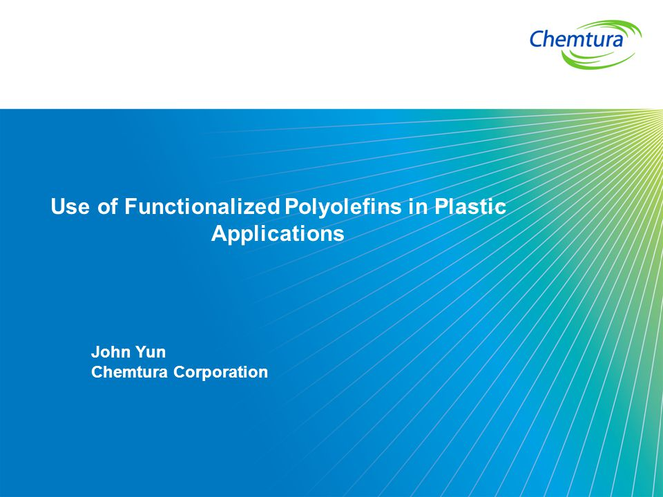 Use of Functionalized Polyolefins in Plastic Applications