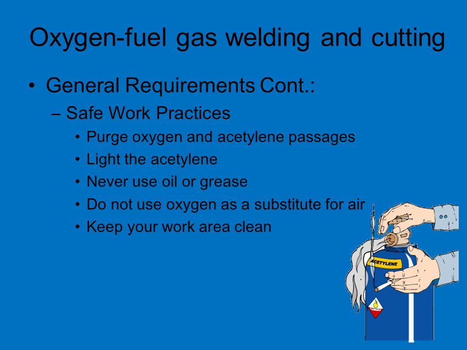 Oxygen-fuel gas welding and cutting