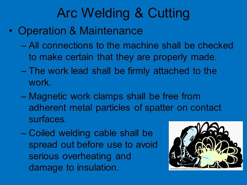 Arc Welding & Cutting Operation & Maintenance