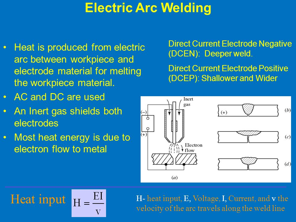 Electric Arc Welding Heat input