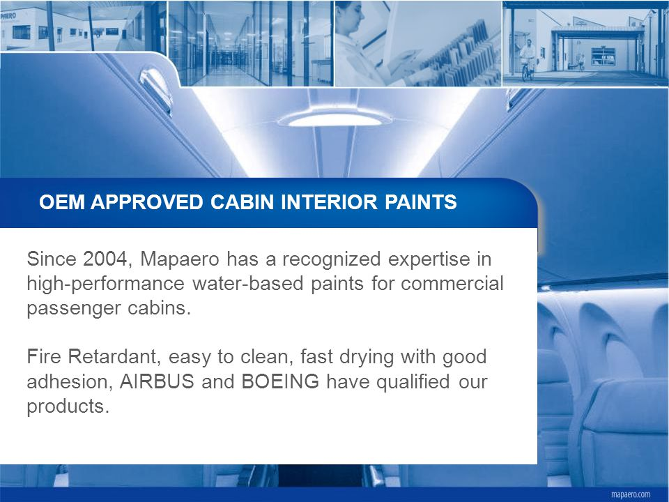 OEM APPROVED CABIN INTERIOR PAINTS
