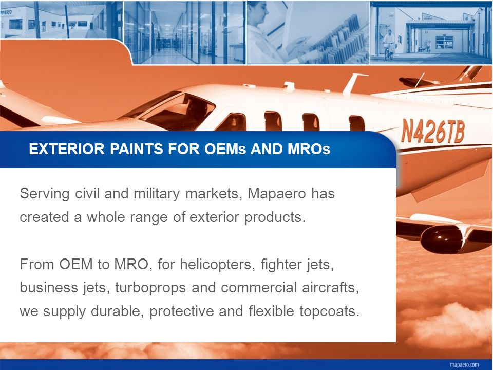 EXTERIOR PAINTS FOR OEMs AND MROs