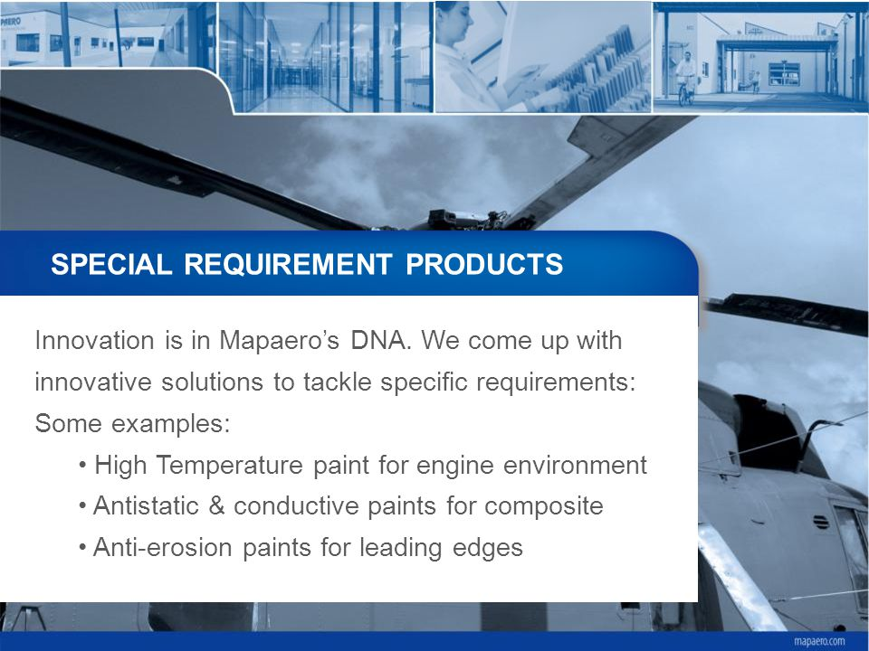 SPECIAL REQUIREMENT PRODUCTS