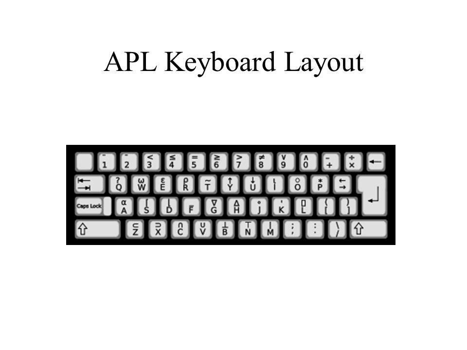 APL Keyboard Layout