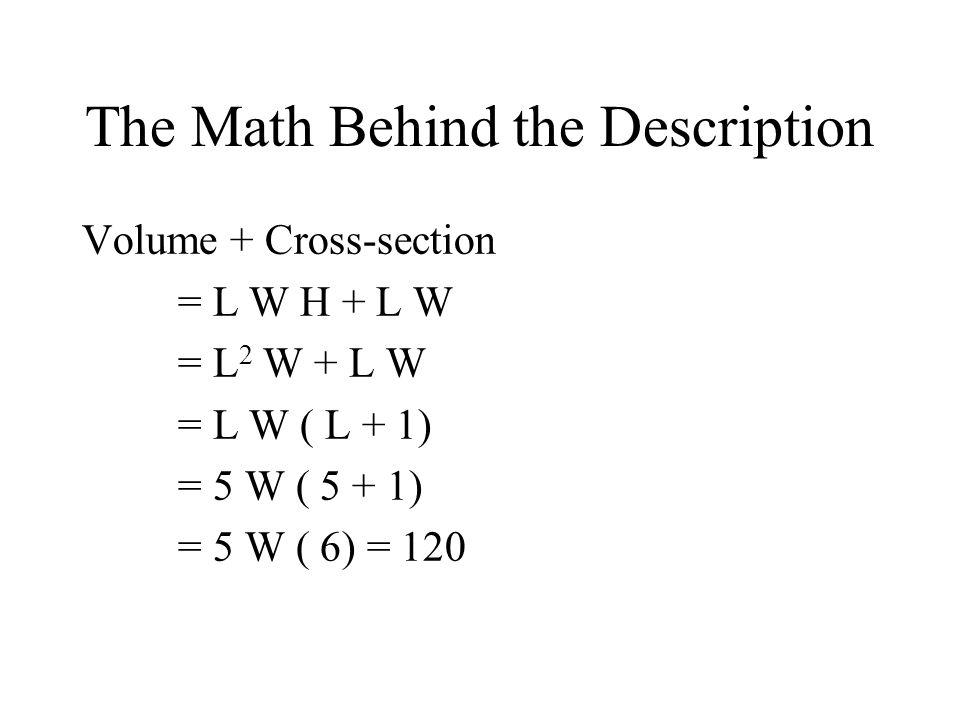 The Math Behind the Description
