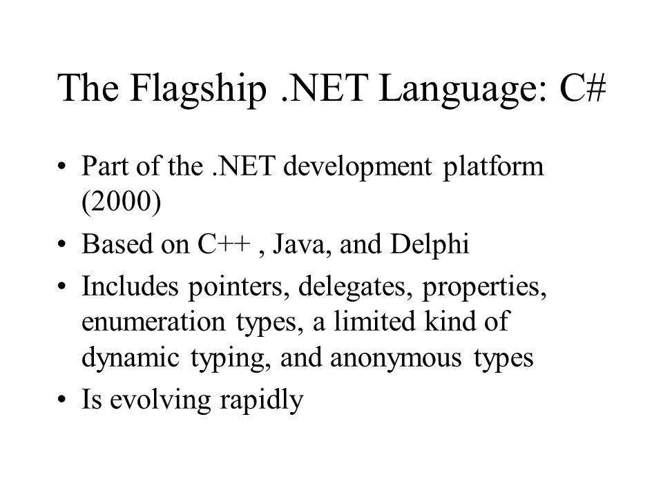 The Flagship .NET Language: C#