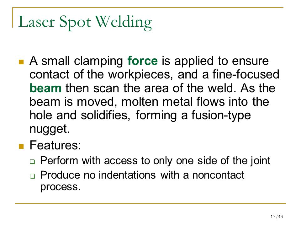 Laser Spot Welding
