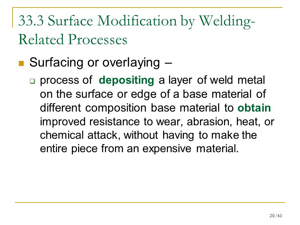 33.3 Surface Modification by Welding-Related Processes
