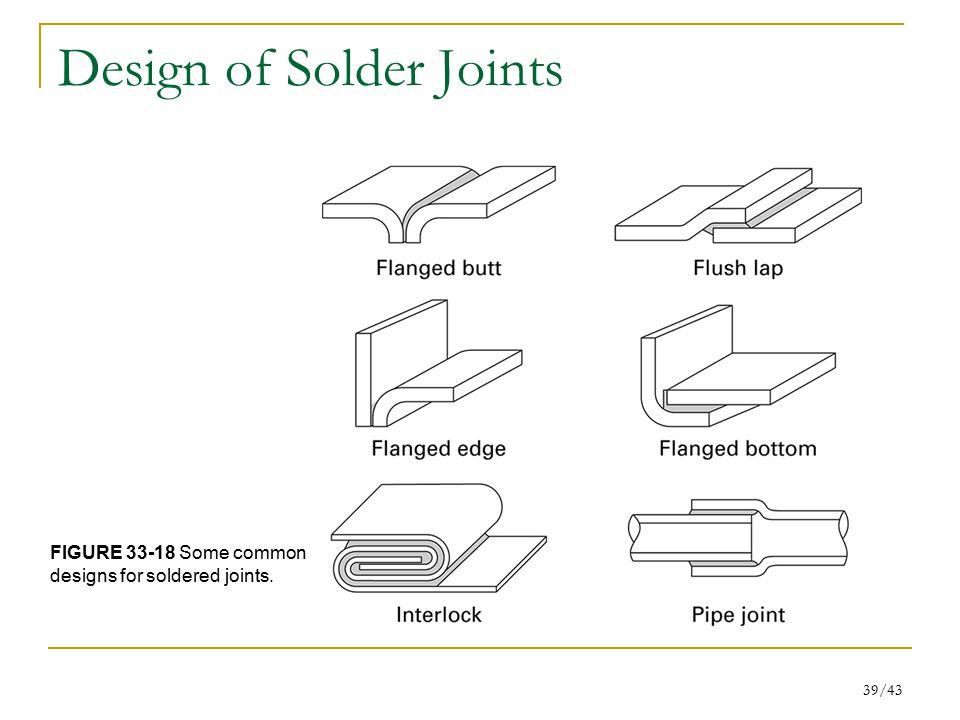 Design of Solder Joints