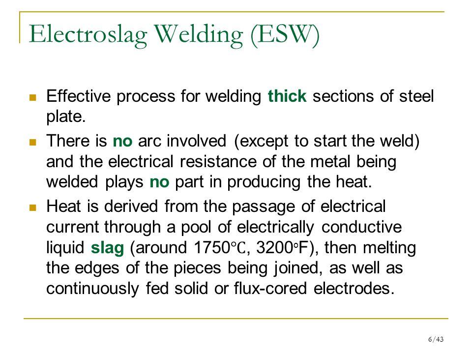 Electroslag Welding (ESW)