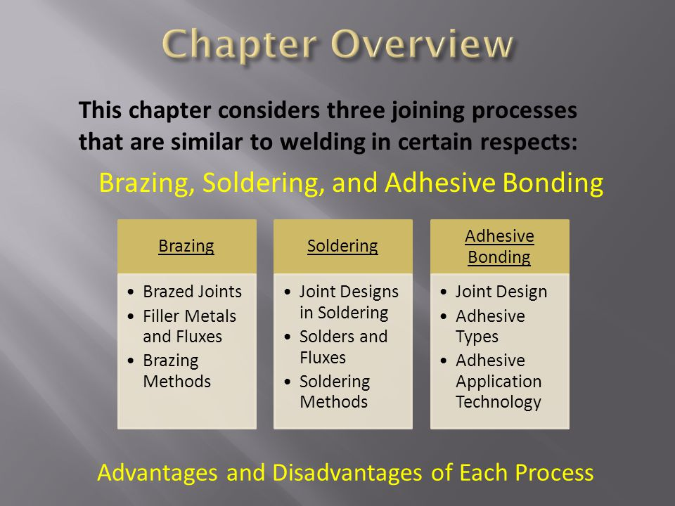 Brazing, Soldering, and Adhesive Bonding