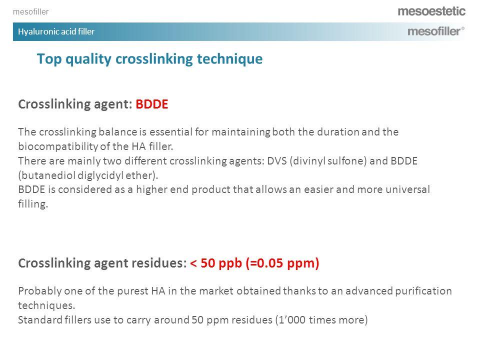 Top quality crosslinking technique