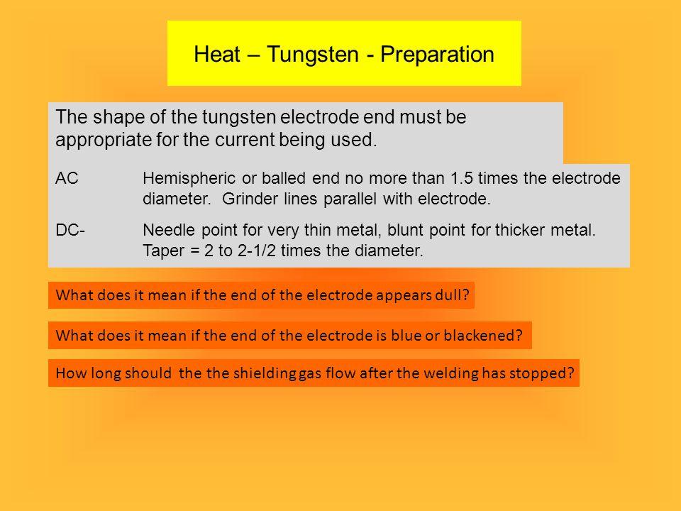 Heat – Tungsten - Preparation