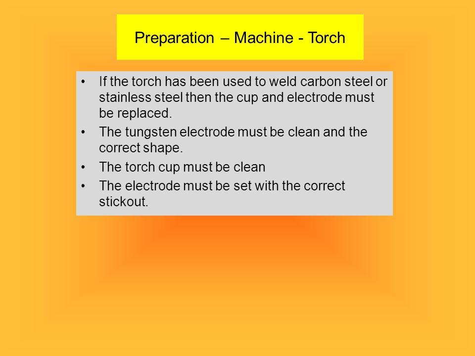 Preparation – Machine - Torch