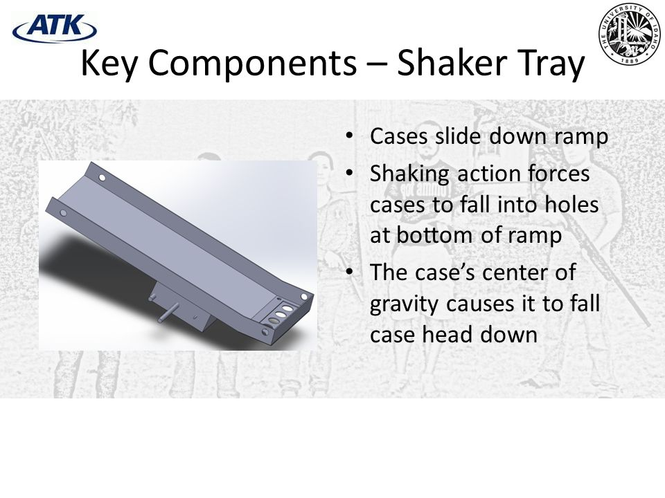 Key Components – Shaker Tray